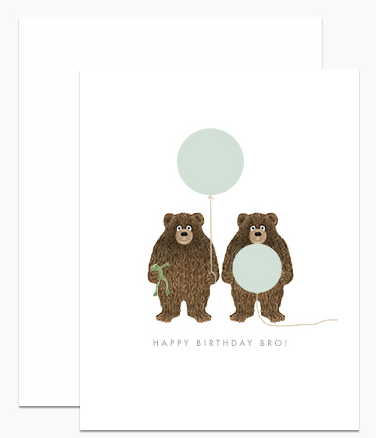 Greeting Card - Happy Birthday Brother Bear