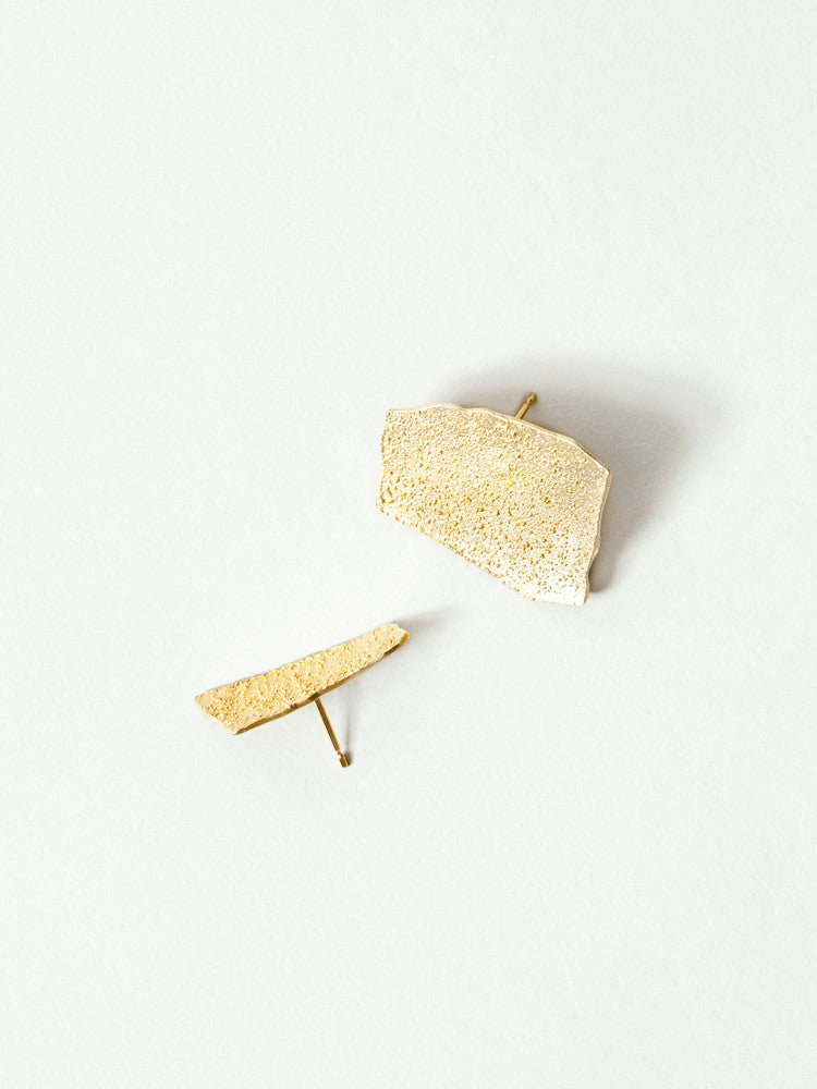 Okamoto Golden Glacier Earrings - rikumo japan made