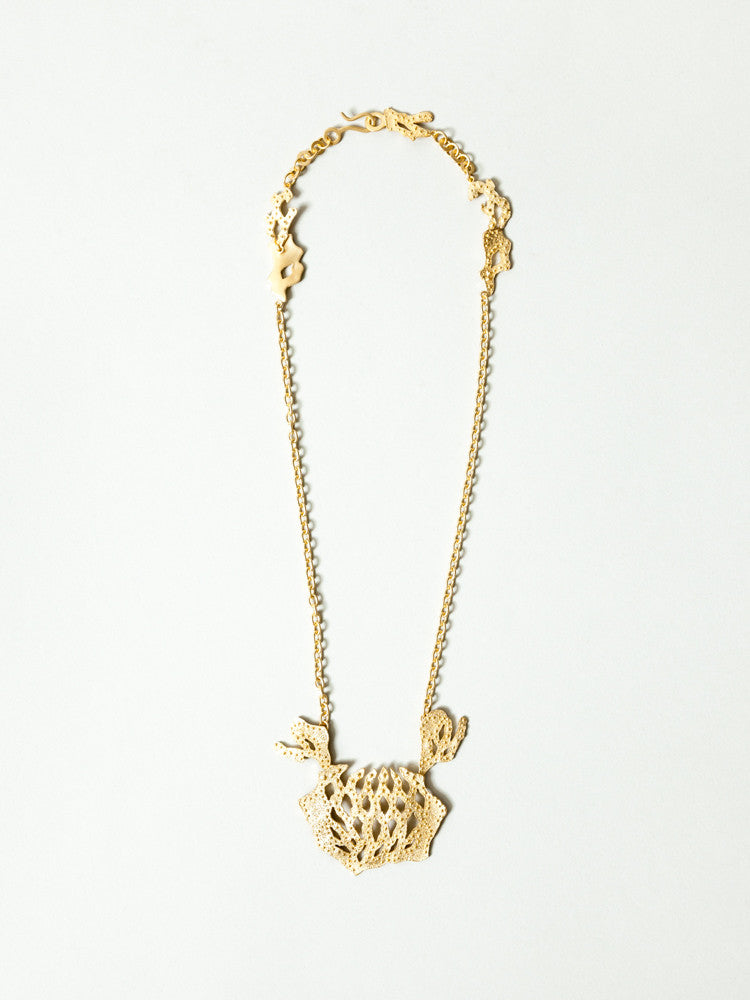 Okamoto Golden Lotus Necklace - rikumo japan made