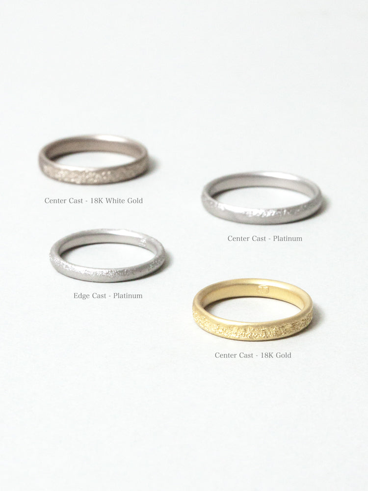 Center Cast Platinum Wedding Band