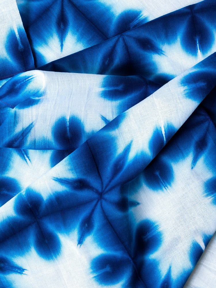 Sousou Shibori Tenugui - Snow Flower - rikumo japan made