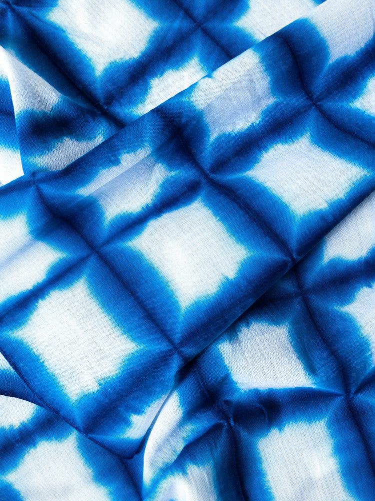 Sousou Shibori Tenugui -  Snow Lake - rikumo japan made