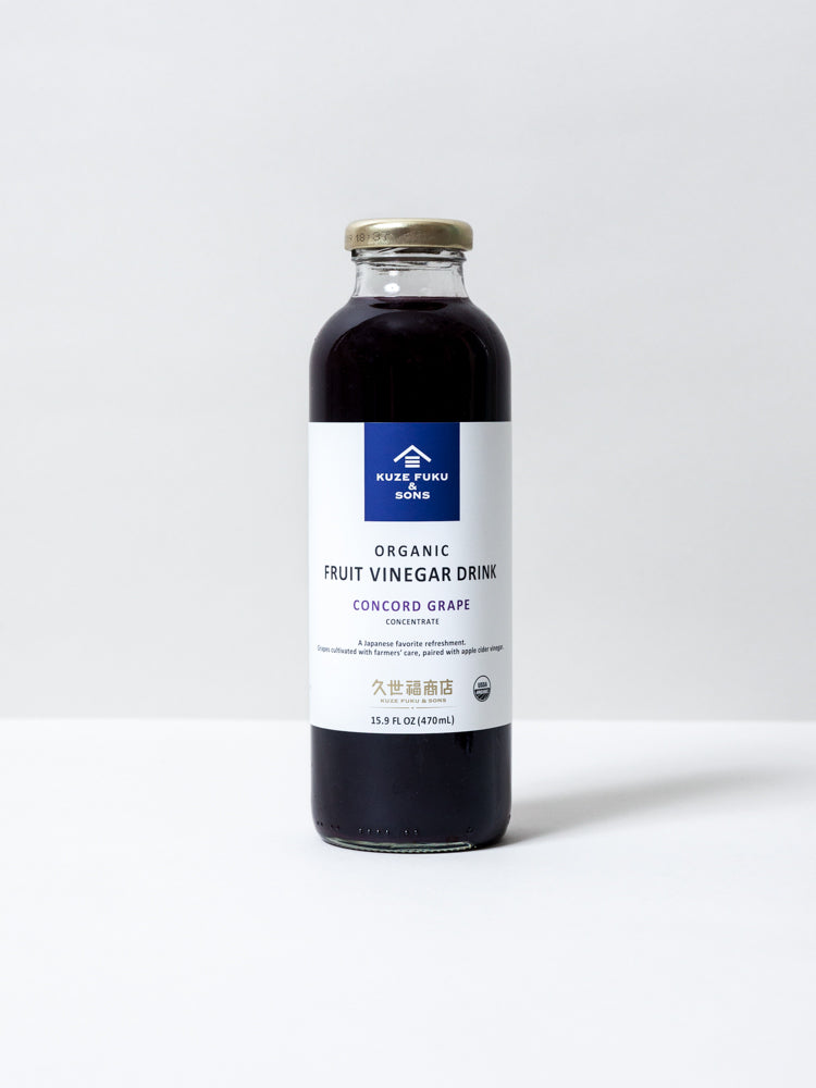 Organic Vinegar Drink Concentrate - Concord Grape