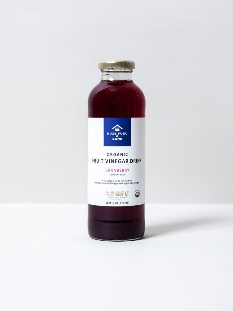 Organic Vinegar Drink Concentrate - Cranberry