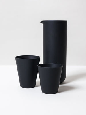 Matte Black Glass Pitcher