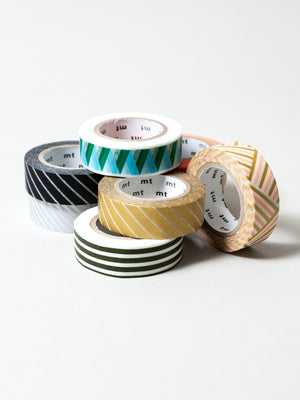 MT Washi Tape - Stripe Silver