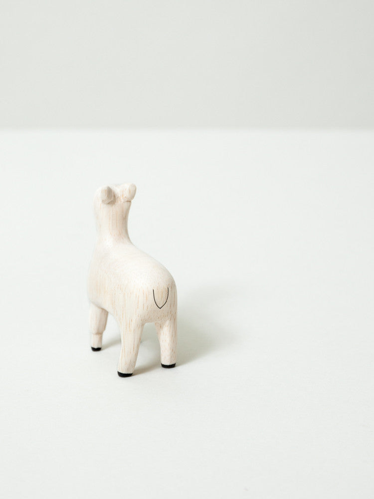 Wooden Animal - Alpaca - rikumo japan made