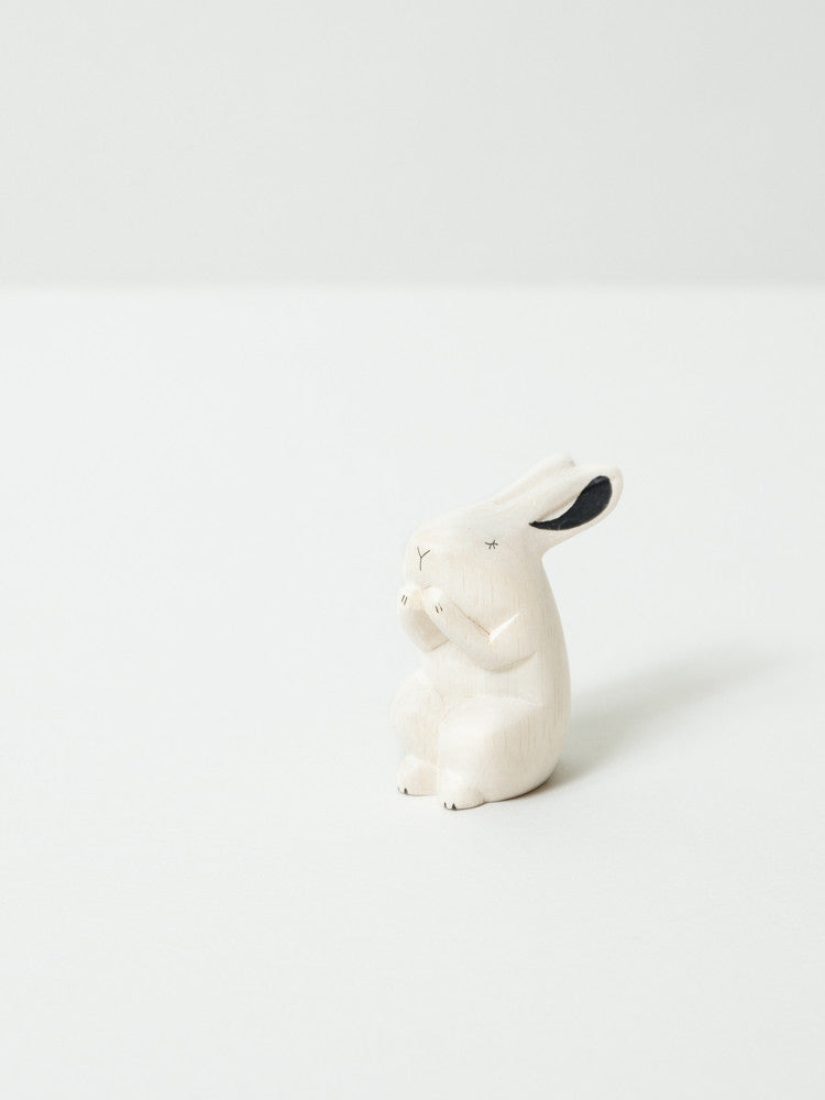 Wooden Animal - Bunny - rikumo japan made