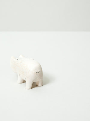 Wooden Animal - Hippo - rikumo japan made