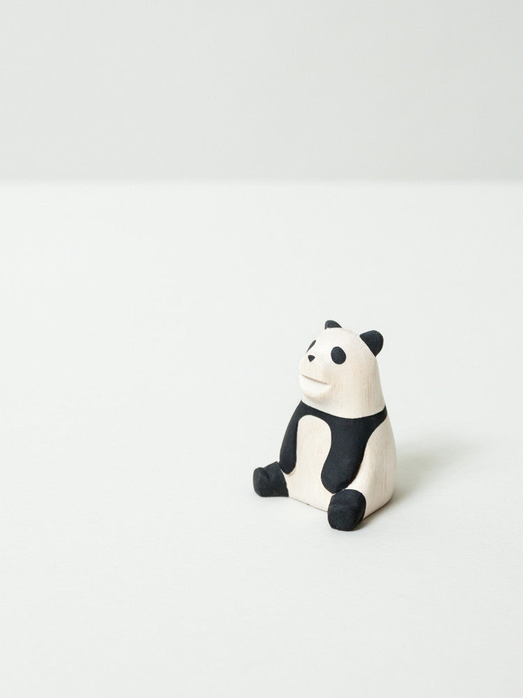 Wooden Animal - Panda - rikumo japan made