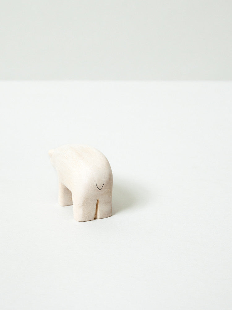 Wooden Animial - Polar Bear - rikumo japan made