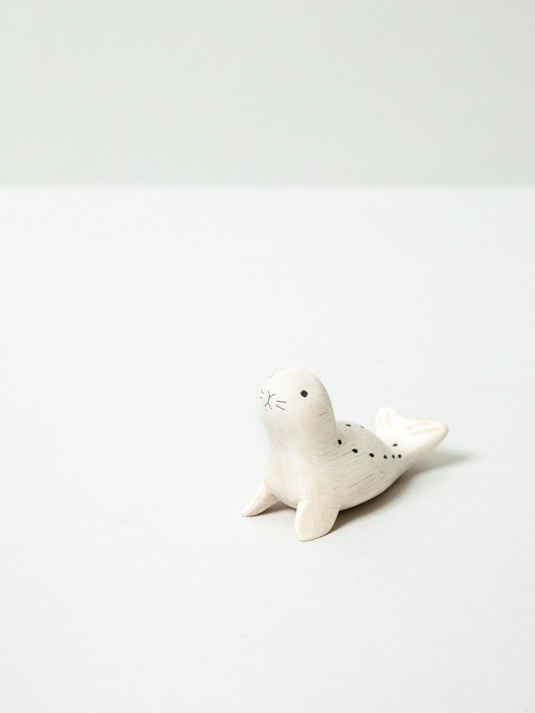 Wooden Animal - Seal - rikumo japan made