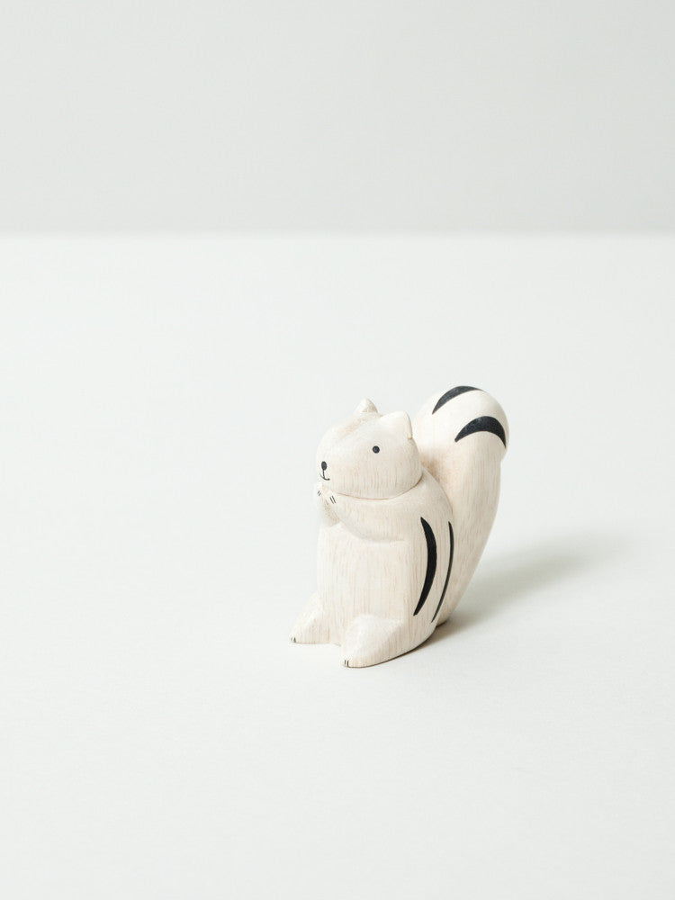 Wooden Animal - Squirrel - rikumo japan made