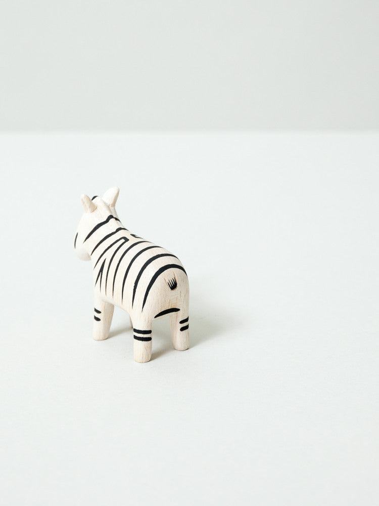Wooden Animal - Zebra - rikumo japan made