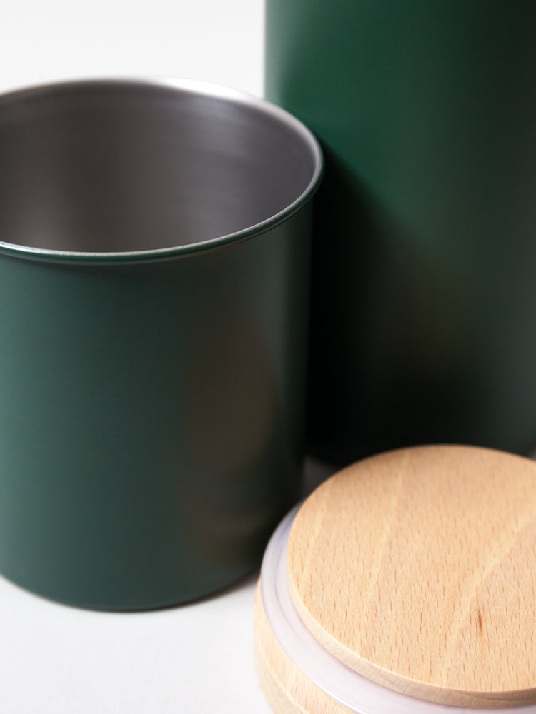 Stainless Steel Canister, Green