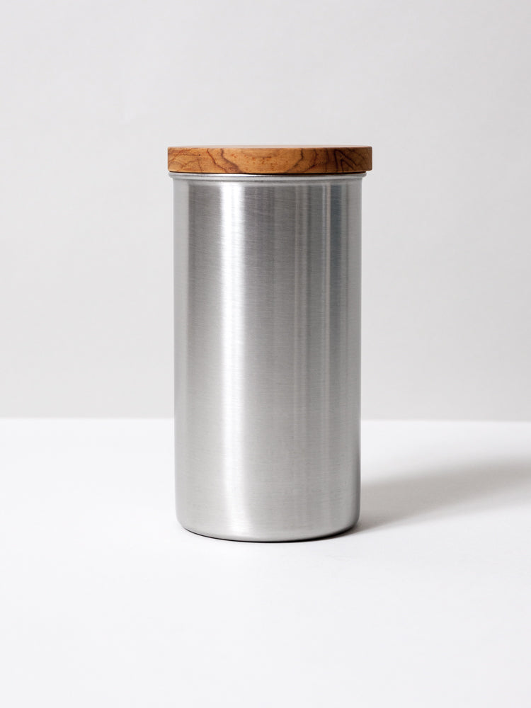 Stainless Steel Canister, Silver