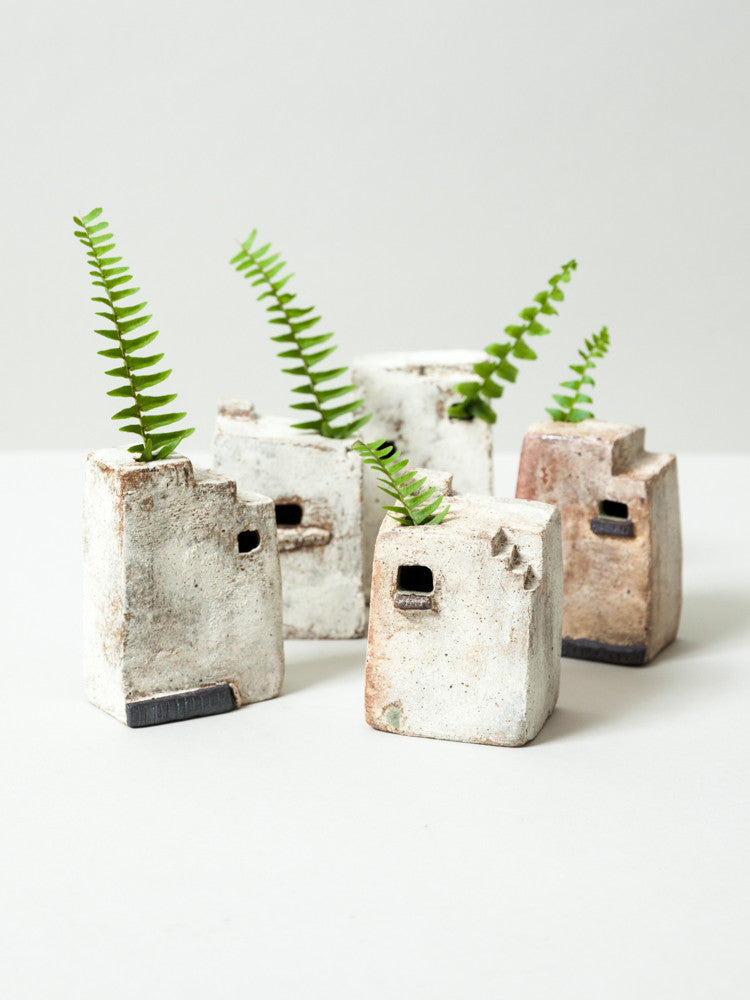 Ceramic City Bud Vase No. 9