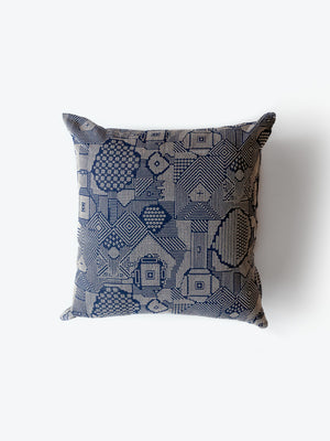 Sashiko Embroidered Cushion Cover