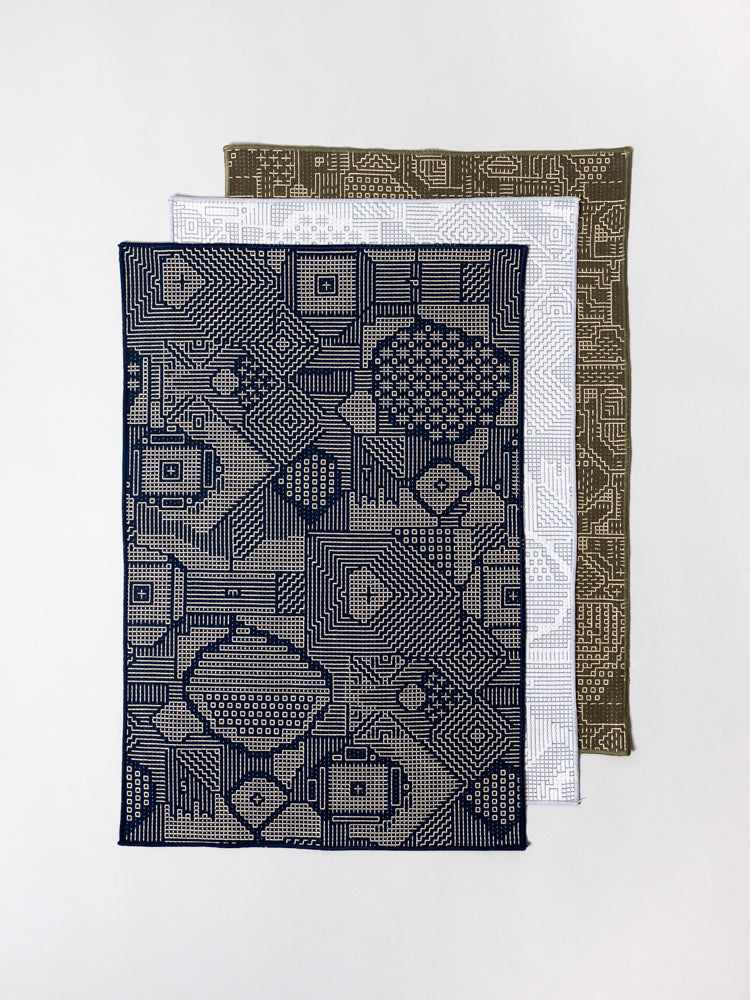 Sashiko Embroidered Place Mat