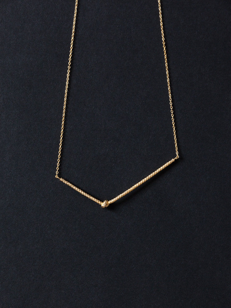 Tomoka Single Knot Necklace - rikumo japan made