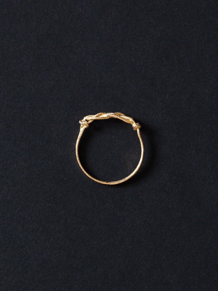 Tomoka Knotted Ring - rikumo japan made
