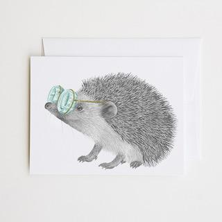 Whitby Valentine European Hedgehog Greeting Card