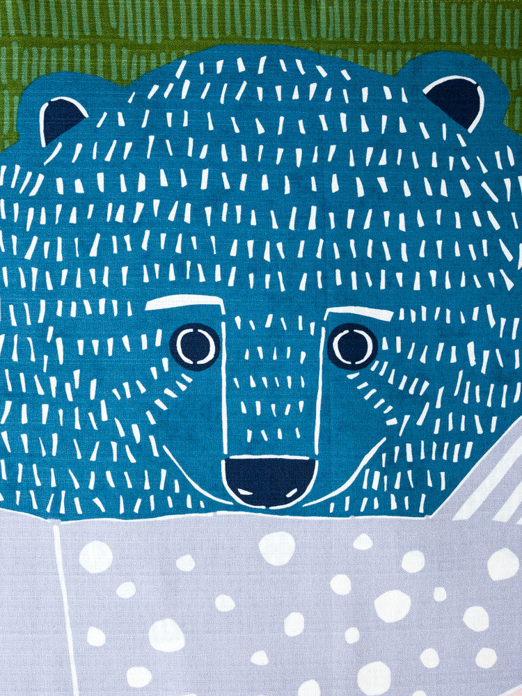Furoshiki Cloth - Bear and Salmon - 100 cm