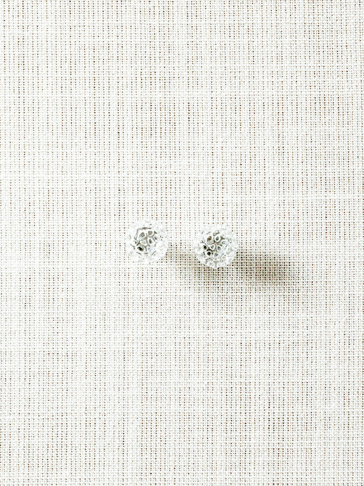 Glass Stud Earrings - Baby Mesh - rikumo japan made
