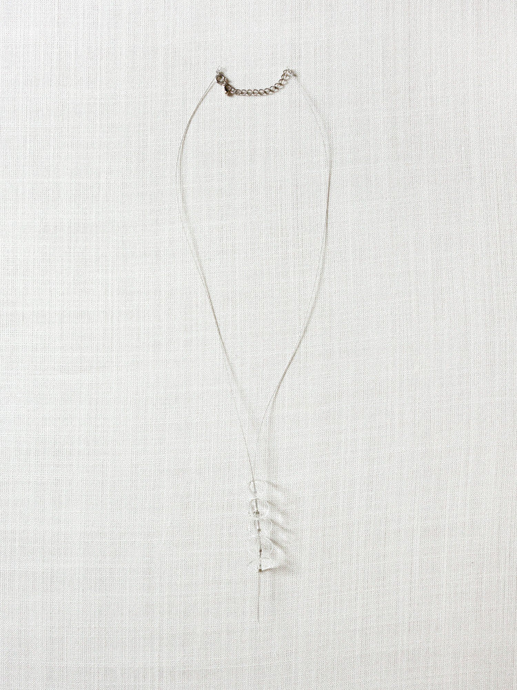 Glass Necklace - Jill - rikumo japan made