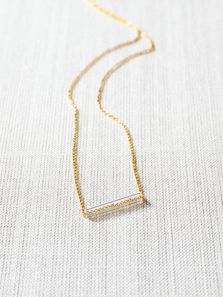 Glass Necklace - Straw
