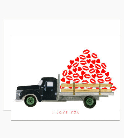 Greeting Card - I Love You Truck - rikumo japan made