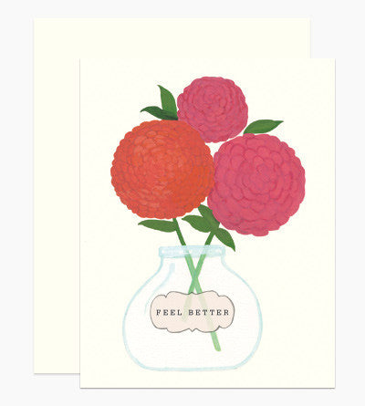 Greeting Card - Feel Better - rikumo japan made