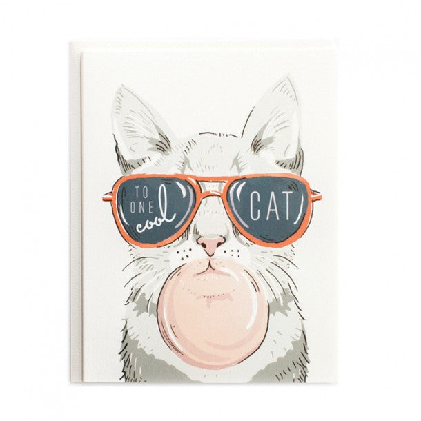 Greeting Card - One Cool Cat - rikumo japan made