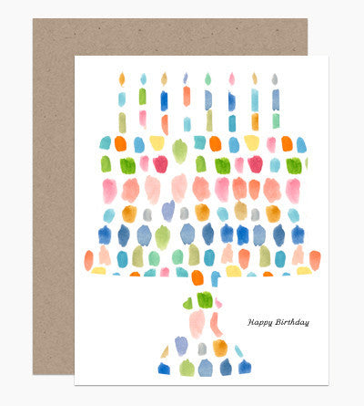 Greeting Card - Happy Birthday Paint Palette Cake - rikumo japan made