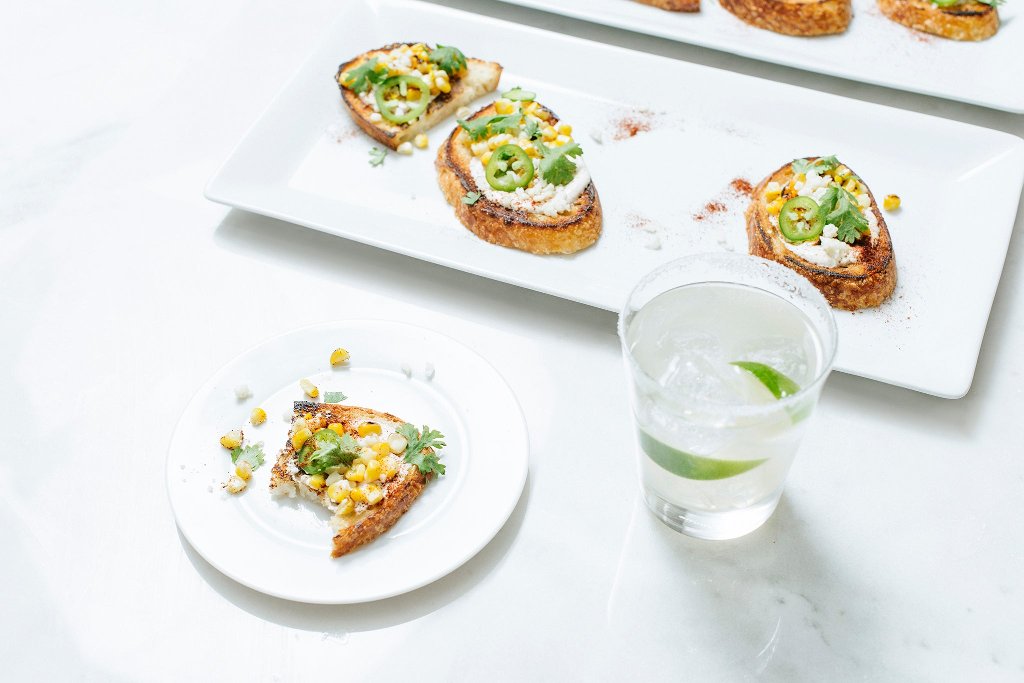 Mexican Street Corn Toasts