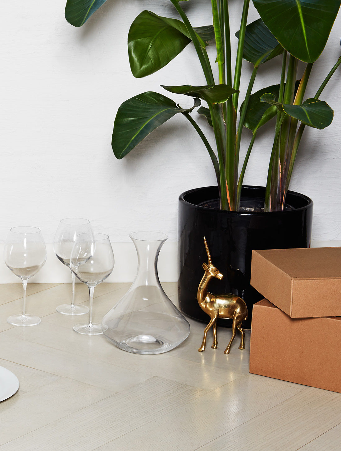 Snowe Glassware and boxes
