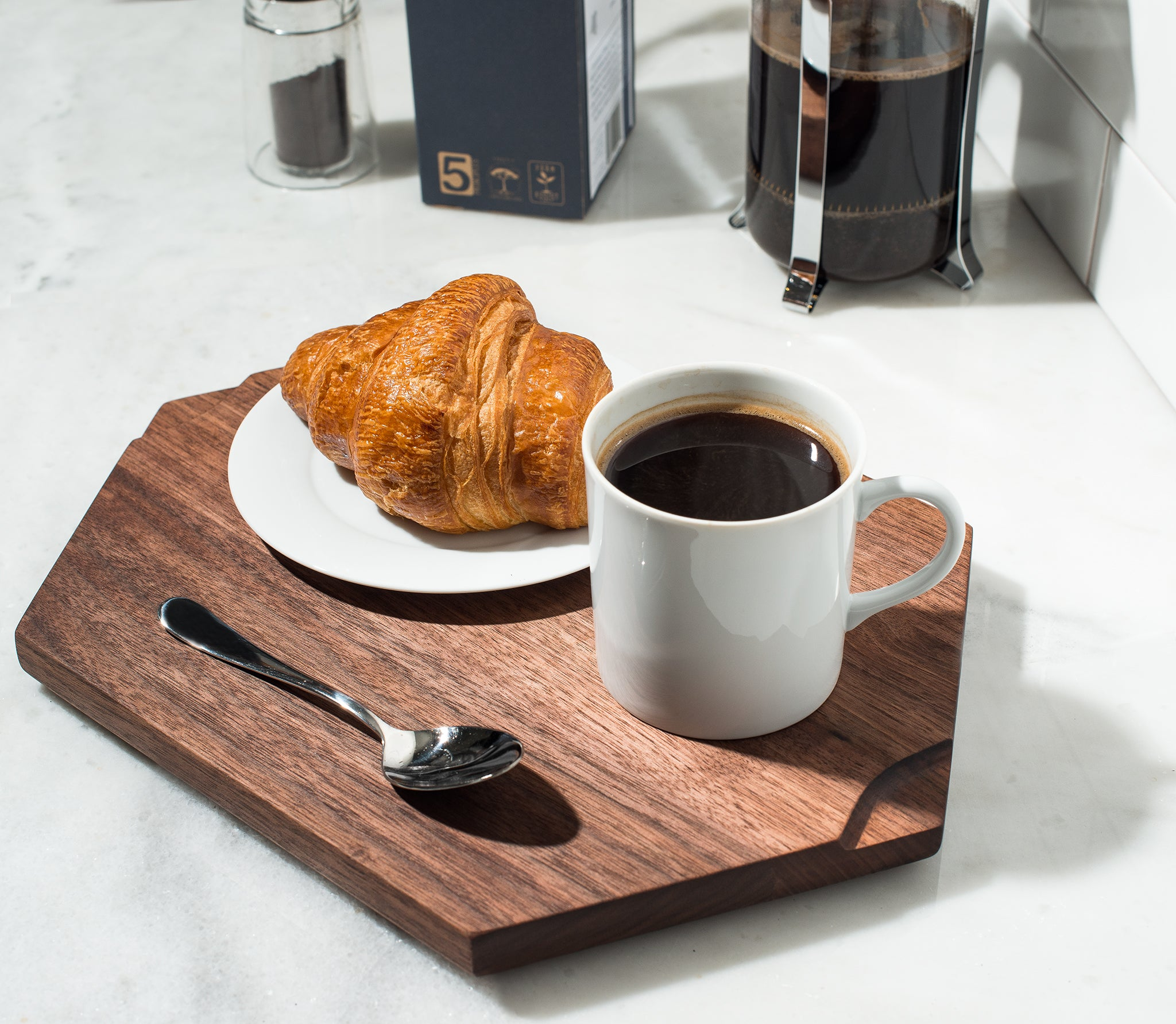 Coffee and a croissant is pure happiness.