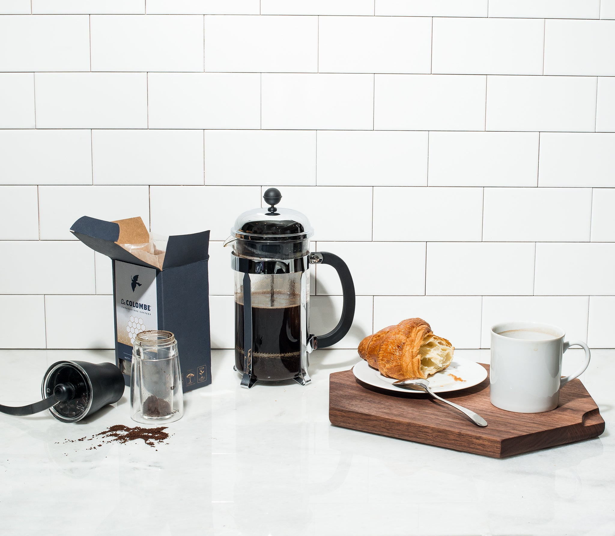 Snowe and La Colombe - How to French Press