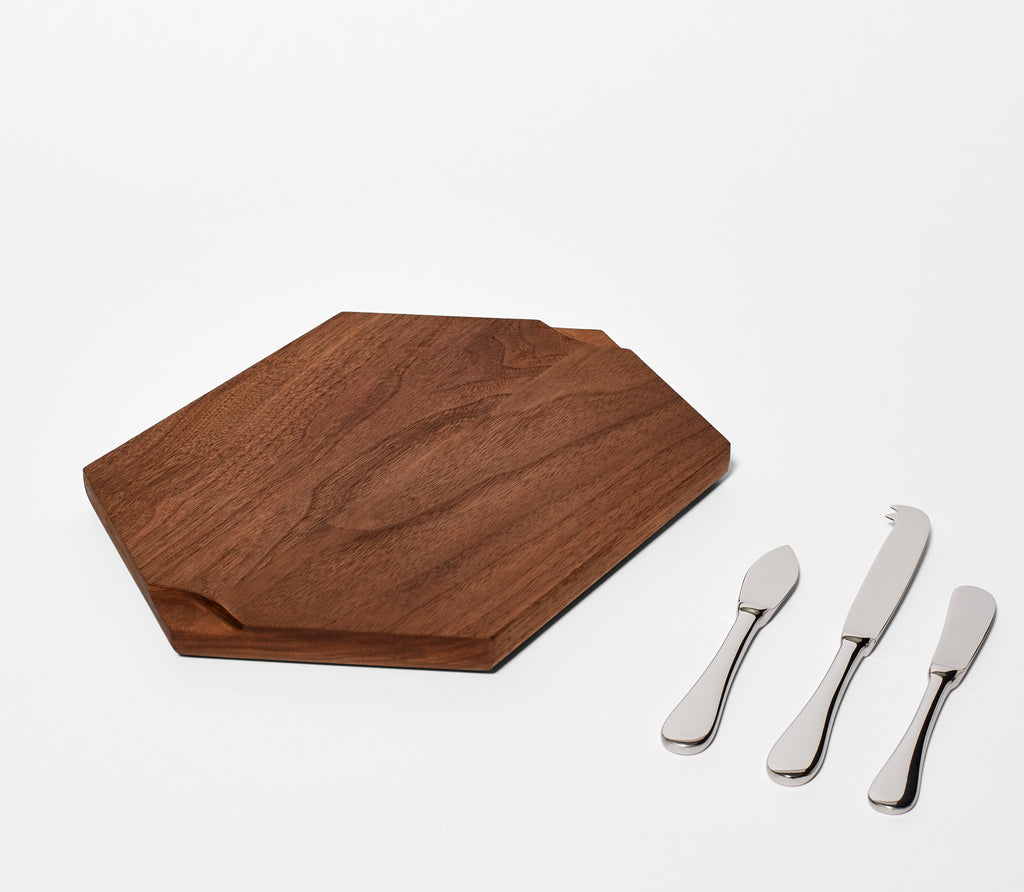 Walnut Cheese Board Set