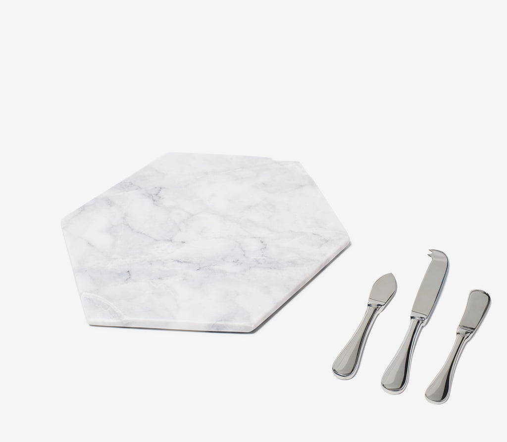 Marble Cheese Board Set