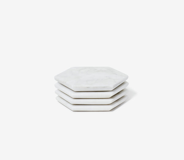 Marble Coasters, Set of 4 by Snowe