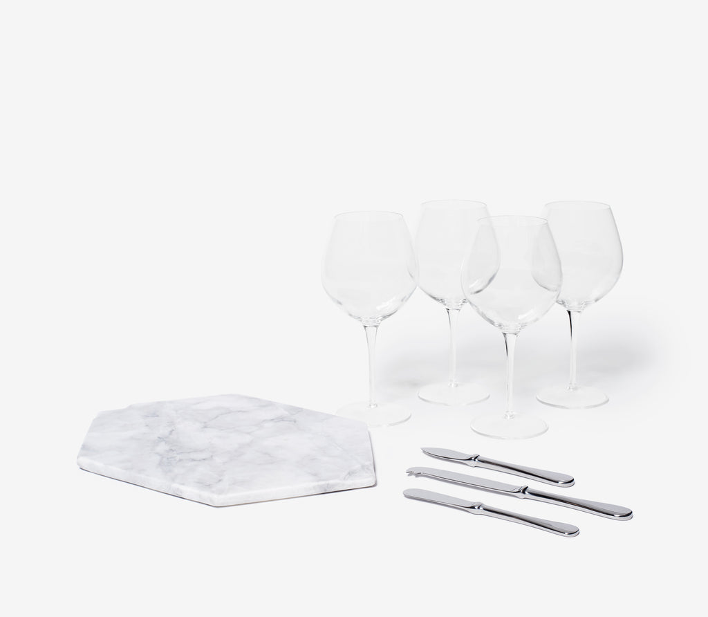 Marble Wine & Cheese Set