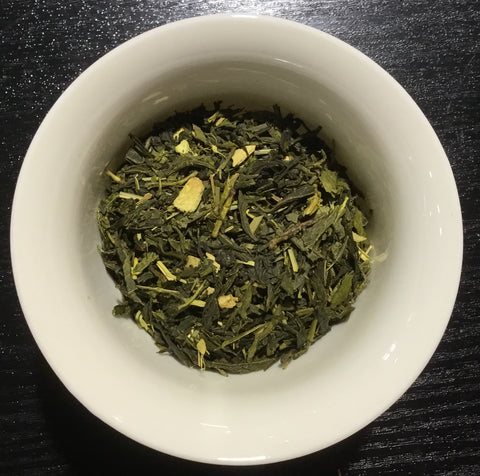 Organic Ginger Lemon green tea - thé vert gingembre citron bio