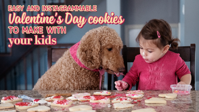 Easy and Instagrammable Valentine's Day cookies to make with your kids