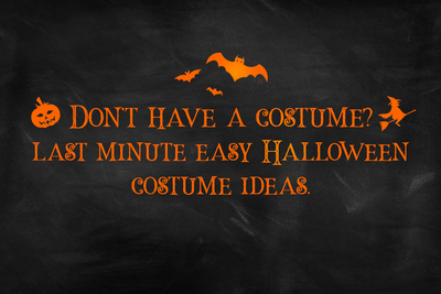 8 Super Easy Homemade Halloween Costume Ideas
