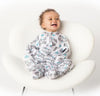 A Baby with Zipadee-Zip, the swaddle transition blanket