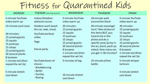 Fitness for quarantined kids