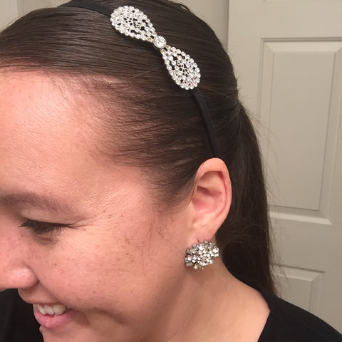 headband and earrings