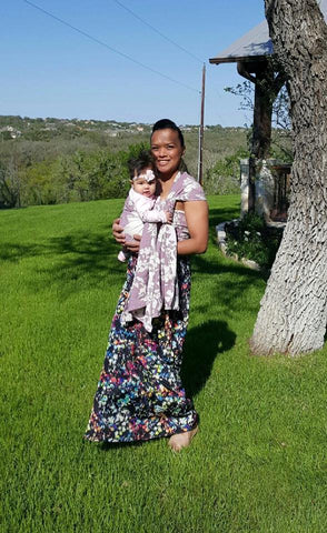 Rita Chavez and her baby