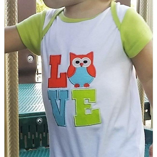 cute owl LOVE baby one piece